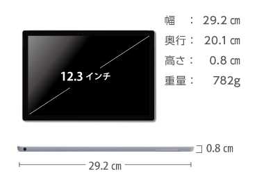 Microsoft Surface Pro2017(i7/8GBモデル) 画像2