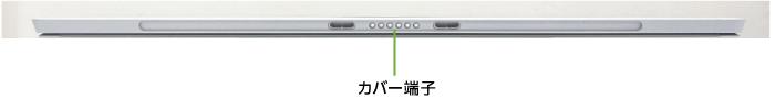 Microsoft Surface Pro 6 (i5/8GBモデル)(下部)